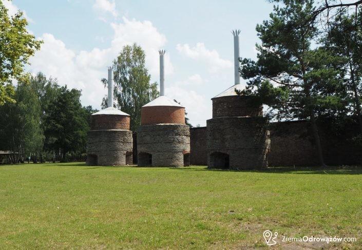 Prażarki rudy w hucie w Chlewiskach