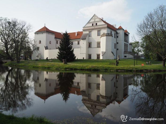 Zamek w Szydłowcu otoczony przez fosę
